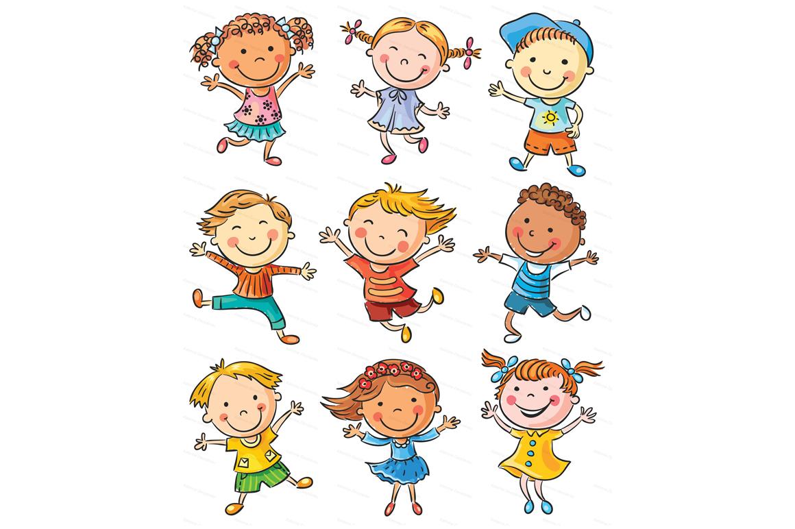 Happy Cartoon Kids Bundle, children doodle, kids doodle example image 3