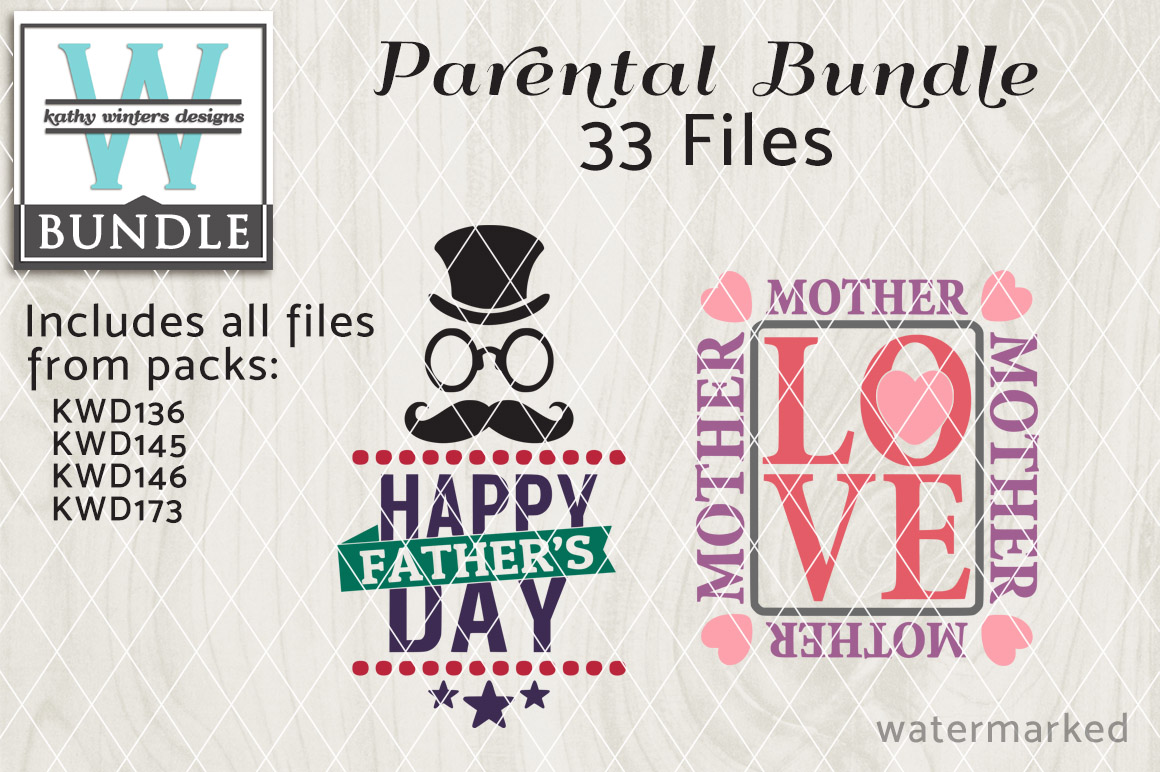 Parental Cutting File Bundle KWDB003 example image 1