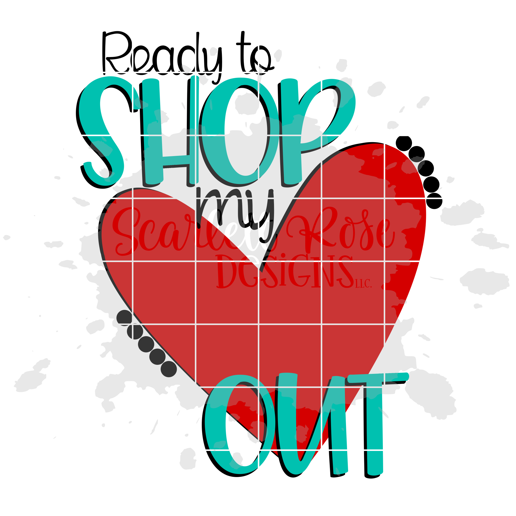 Ready to Shop my Heart Out SVG - Black Friday SVG example image 2
