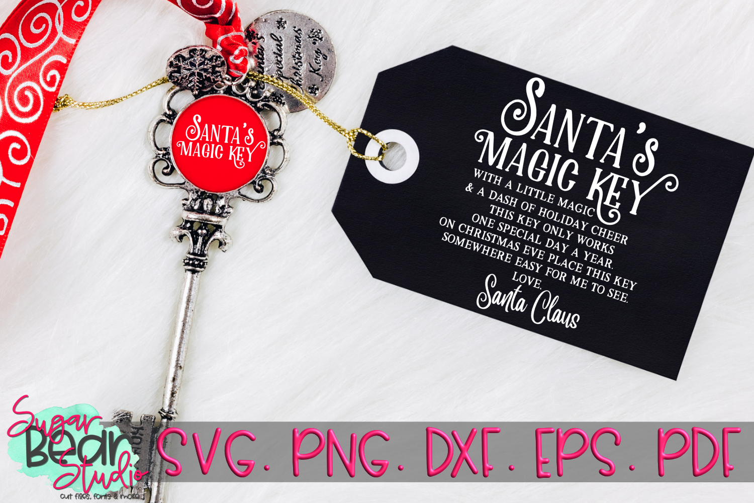 Santa's Magic Key - A Christmas SVG example image 1