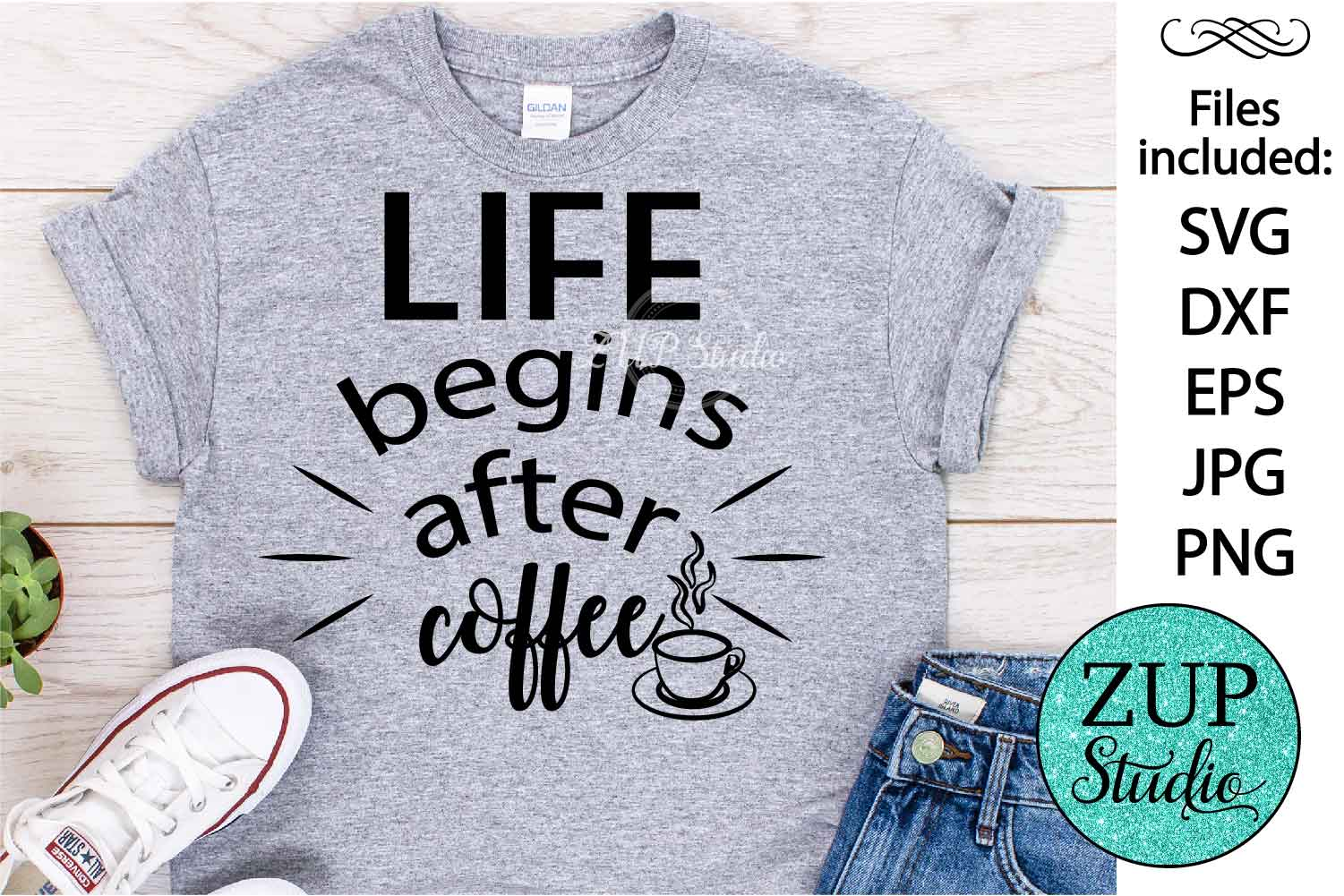 life after coffee Digital Cutting files file 85 example image 1