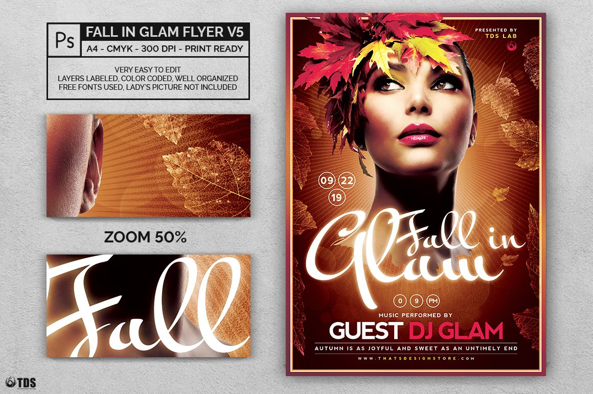 Fall in Glam Flyer Template V5 example image 2