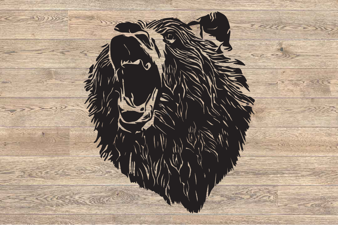 Bear SVG Cutting Files Head face mama dad 1634s example image 2