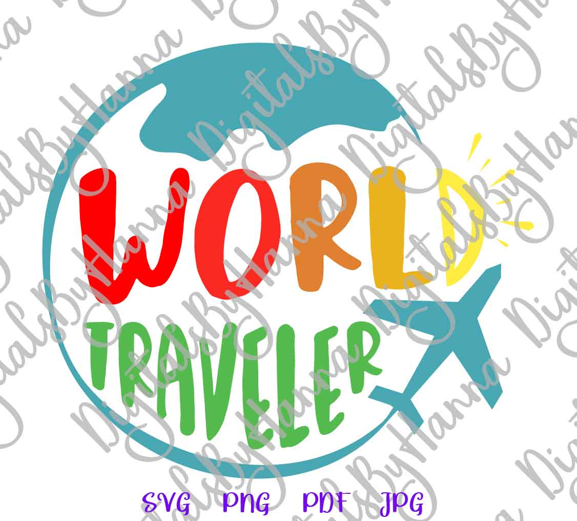 World Traveler Sign Print & Cut PNG SVG DXF PDF JPG Files example image 4