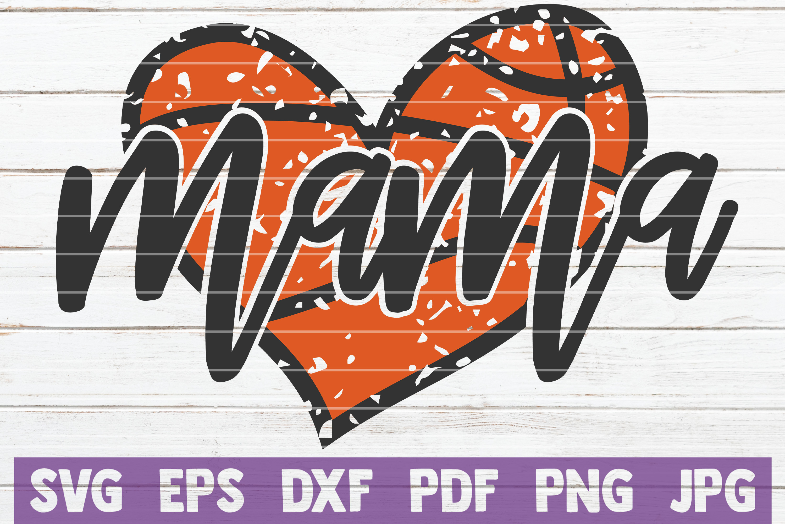 Basketball Mama SVG Cut File | commercial use example image 1