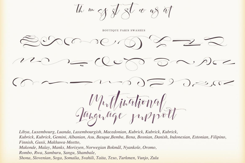 Boutique Paris - Modern Script example image 4