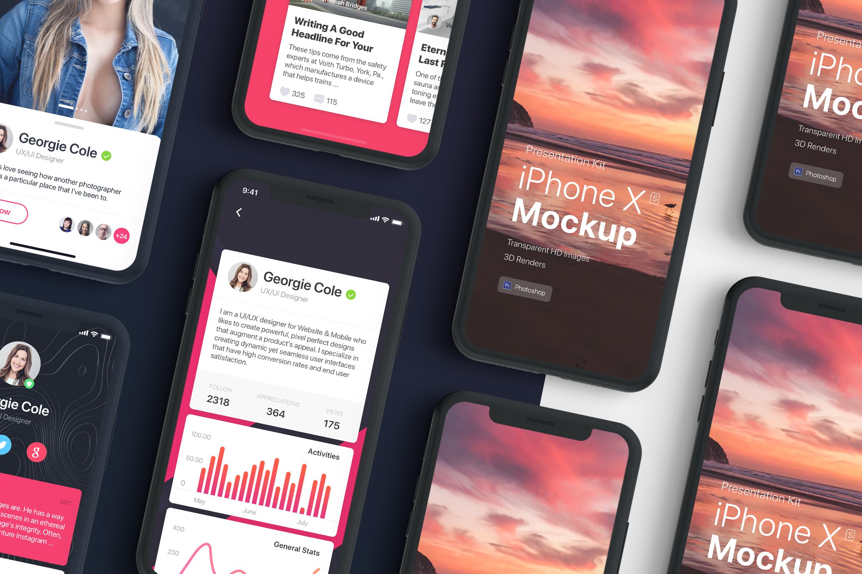 Presentation Kit - iPhone showcase Mockup_v2 example image 1
