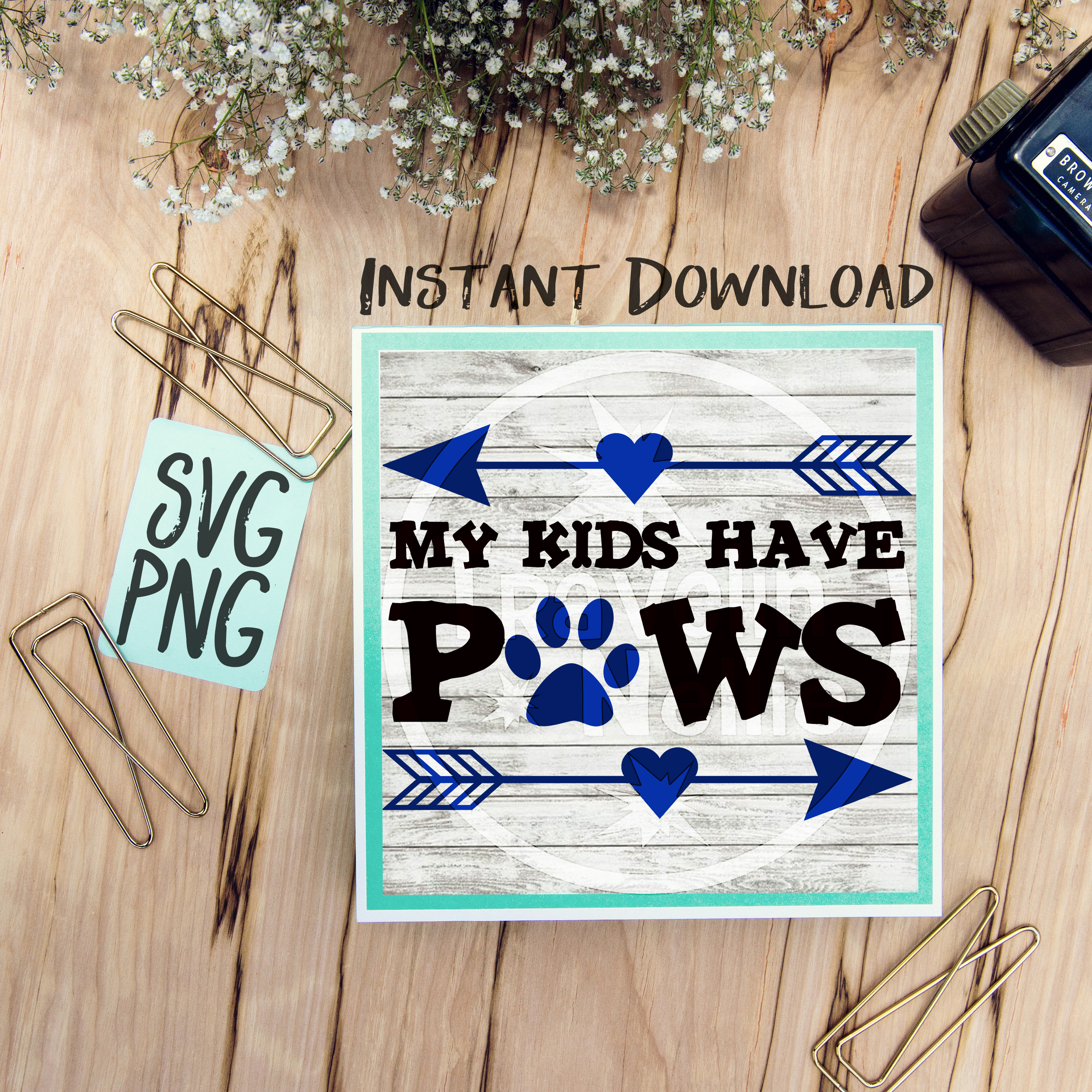 My Kids Have Paws Svg Png Cricut Cameo Silhouette Brother Scan Cut Crafters Cutting Files For Vinyl Cutting Sign Making 63571 Svgs Design Bundles