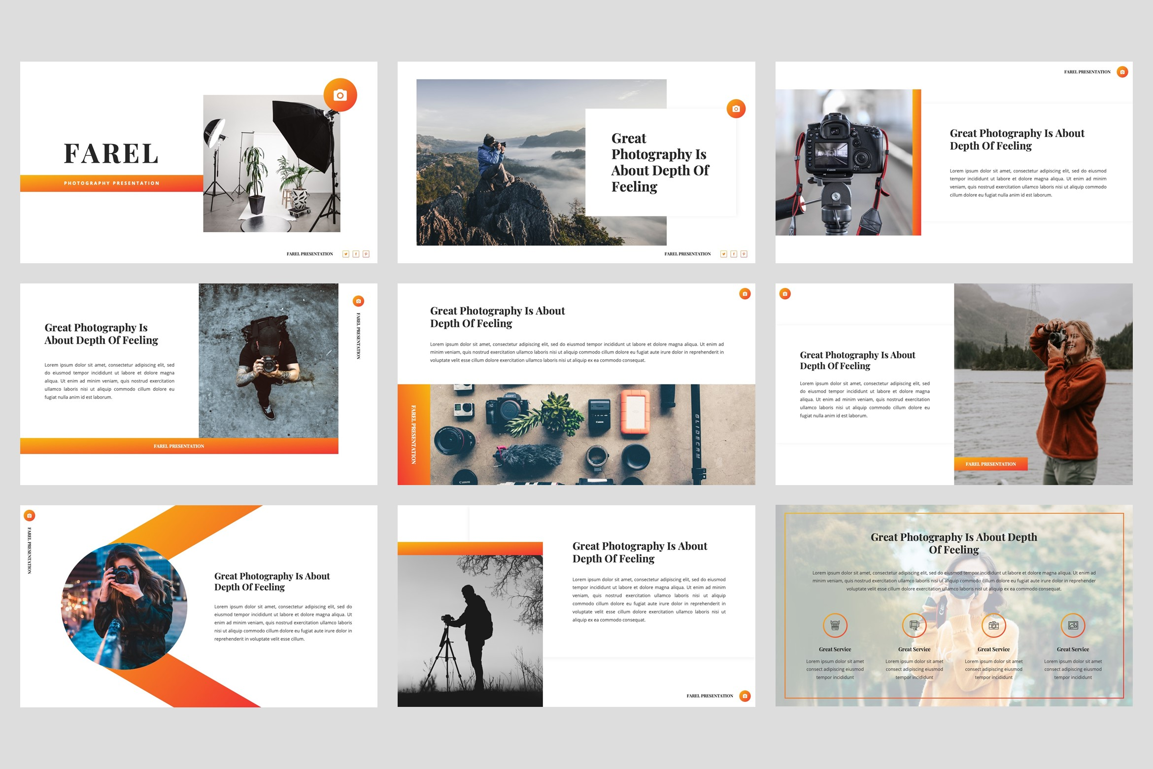 Farel - Photography PowerPoint Template example image 2