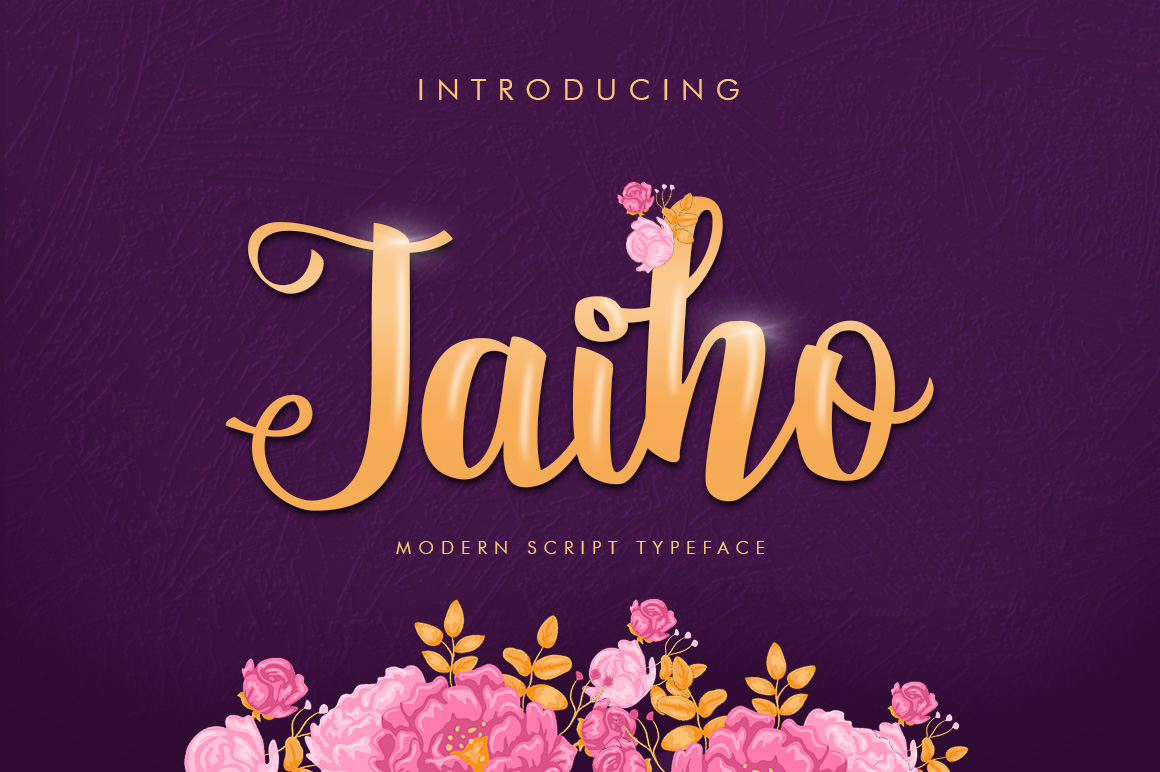 Jaiho Script (Duo Font) example image 1