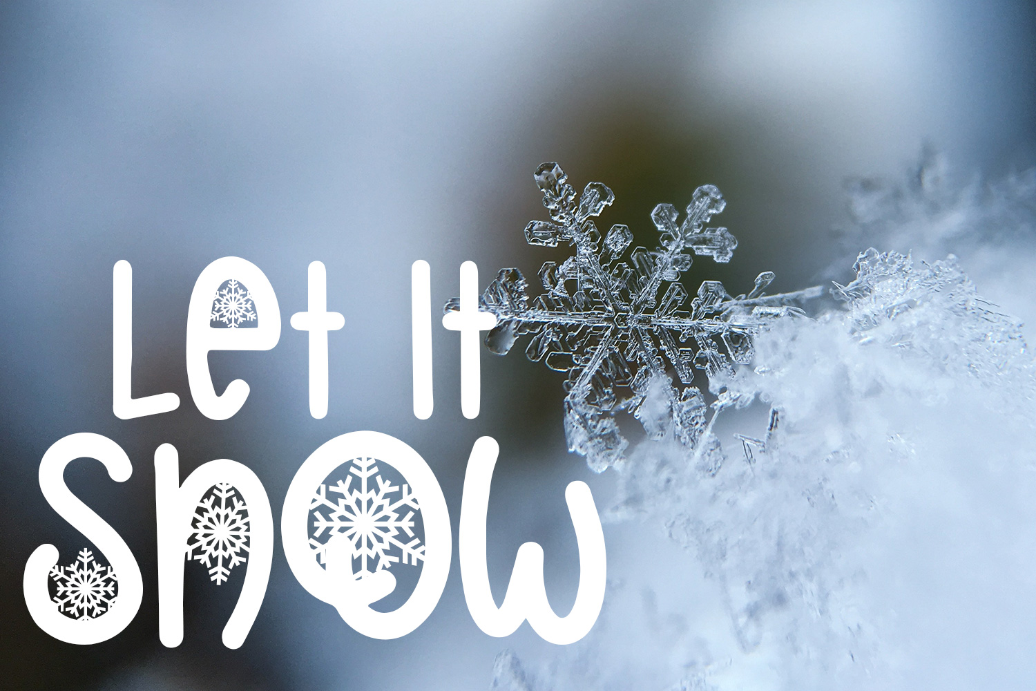 Christmas Snowflakes Font example image 2