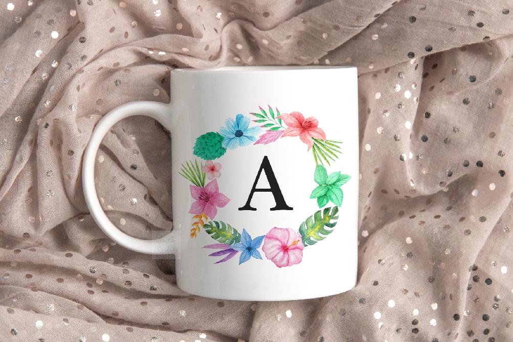 Mug mockup modern flatlay sublimation 11oz cup beige mock up example image 4
