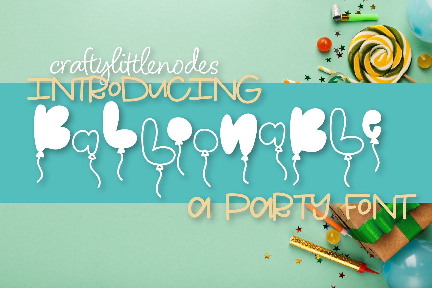 Balloonable - A Hand Drawn Balloon Font example image 1