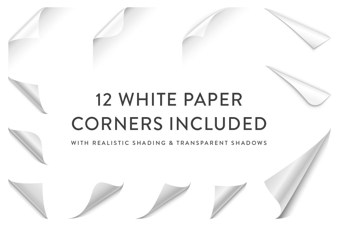 Curling Paper Corner Folds Set example image 2
