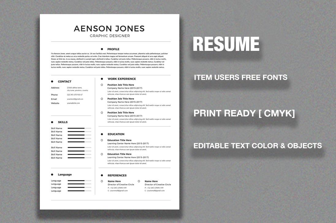 CV/Resume example image 3