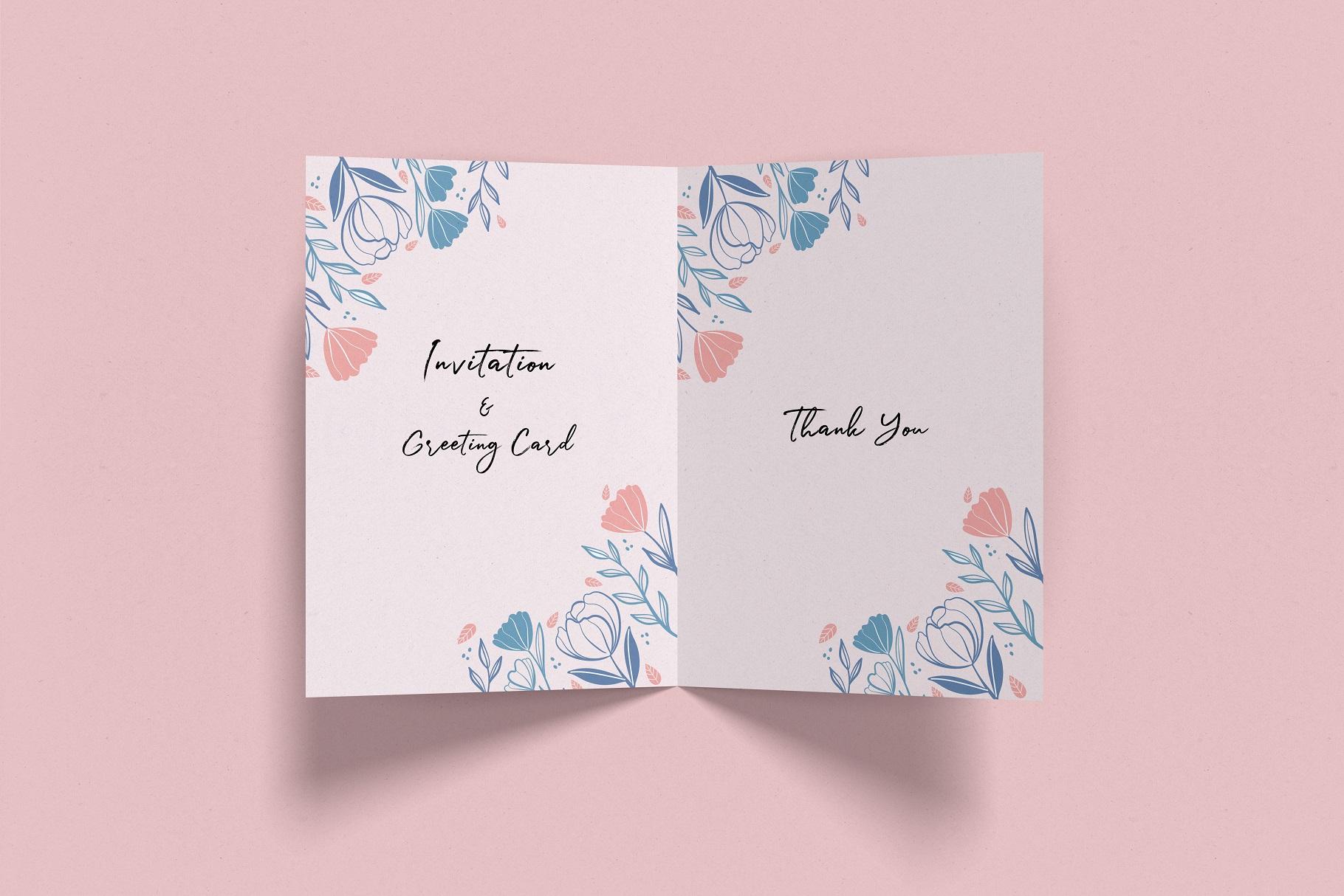 Invitation & Greeting Card Mockup example image 2