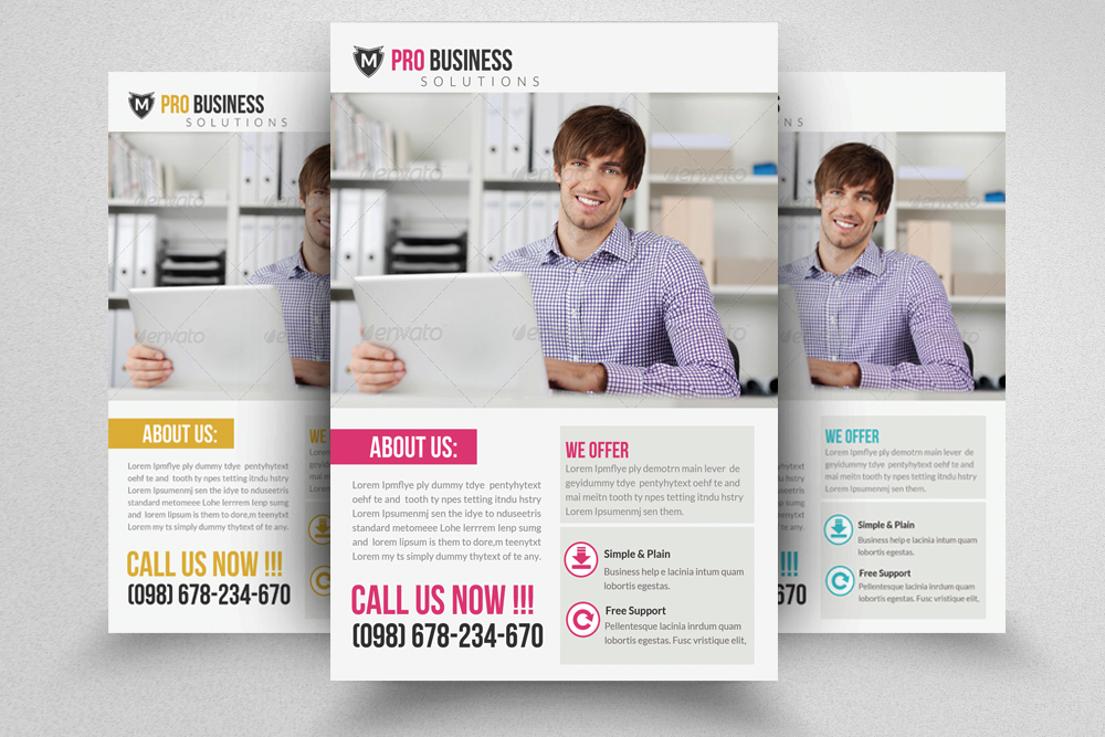 6 Corporate Business Flyers Bundle example image 6