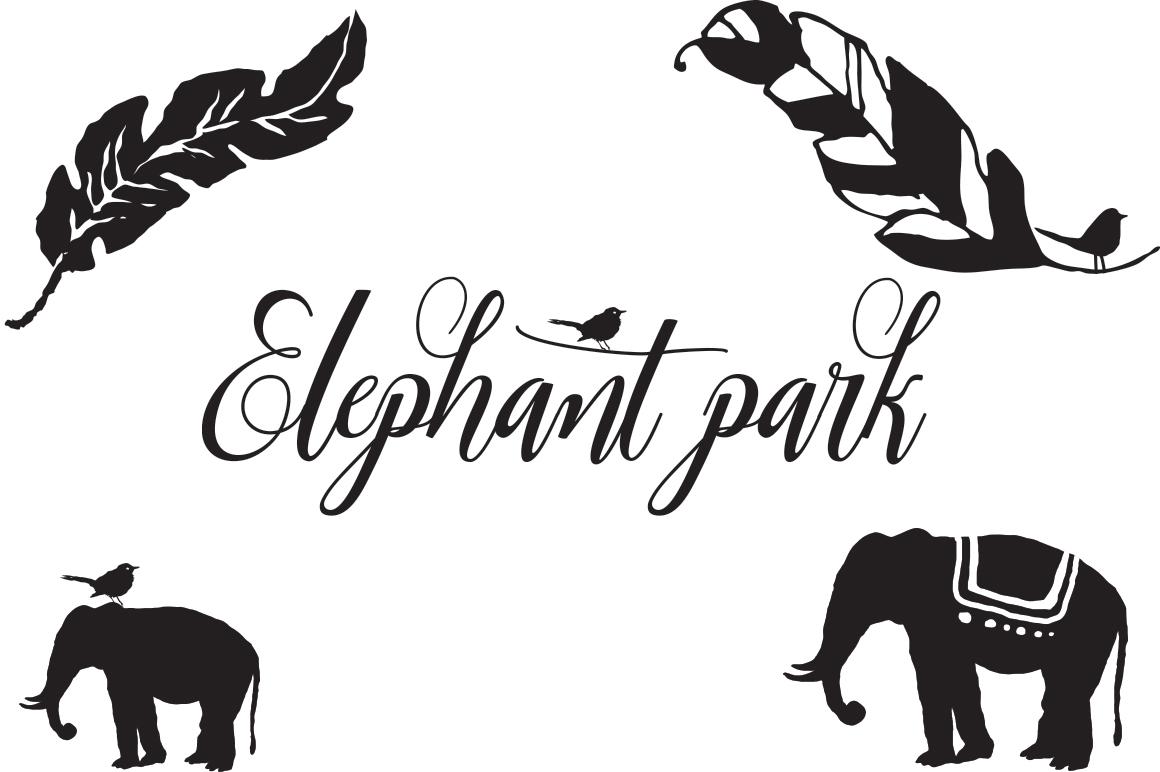 Elephant Park Font Duo example image 4
