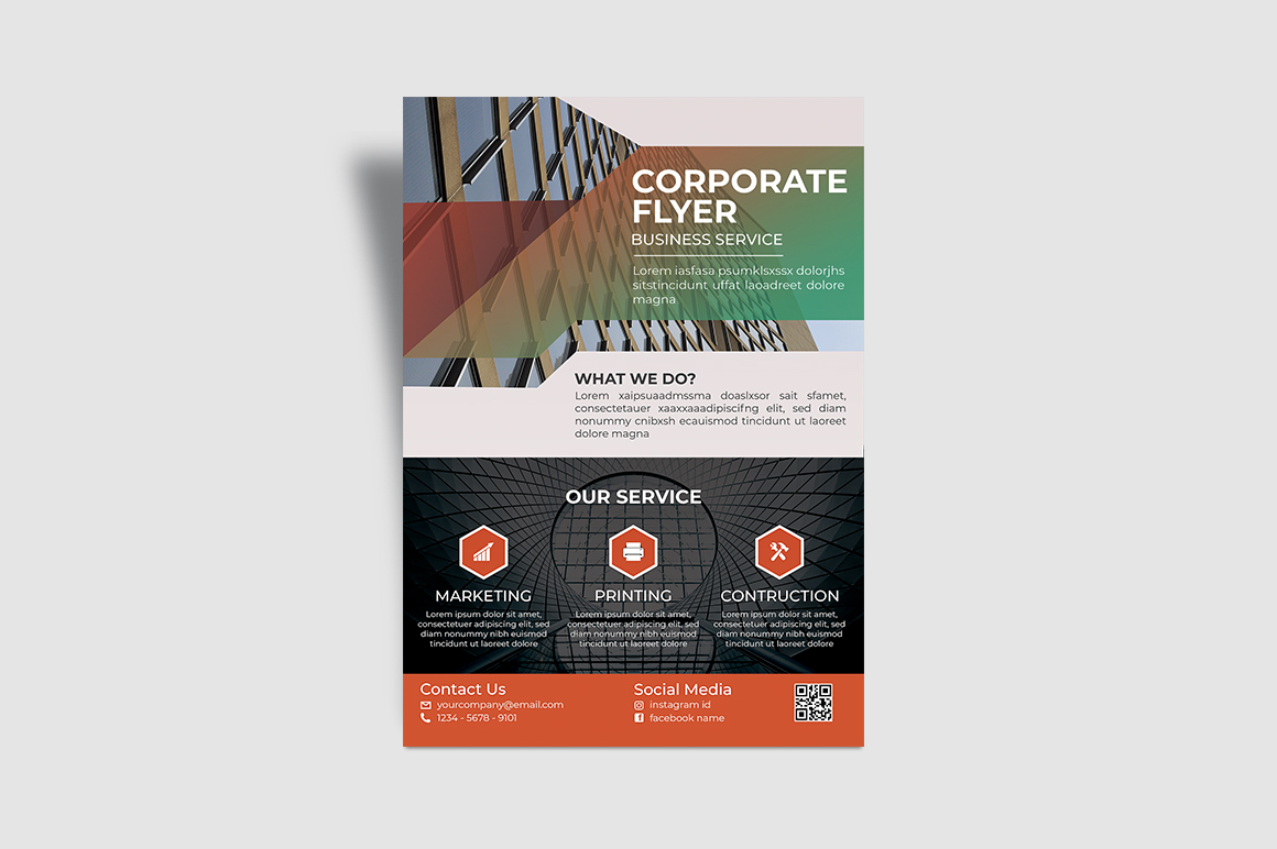 Service Corporate Flyer example image 4