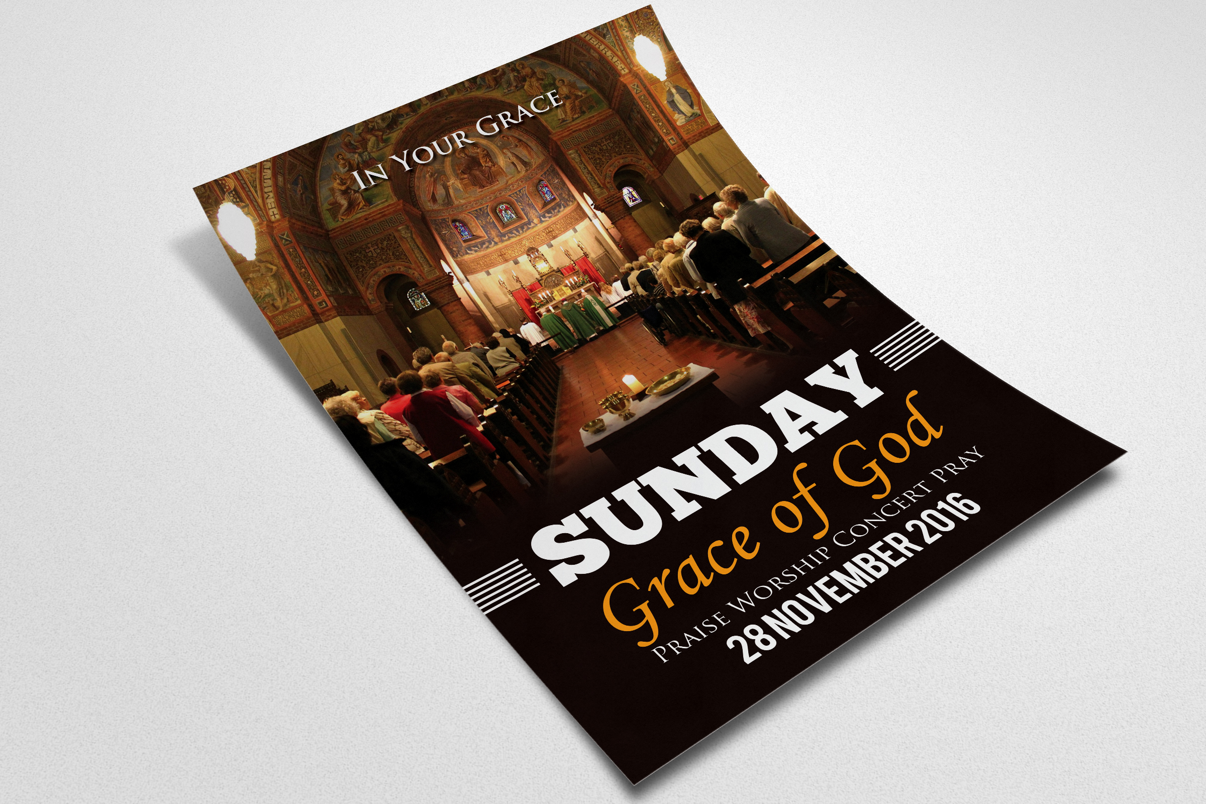 Emmanuel Church Flyer Template example image 2