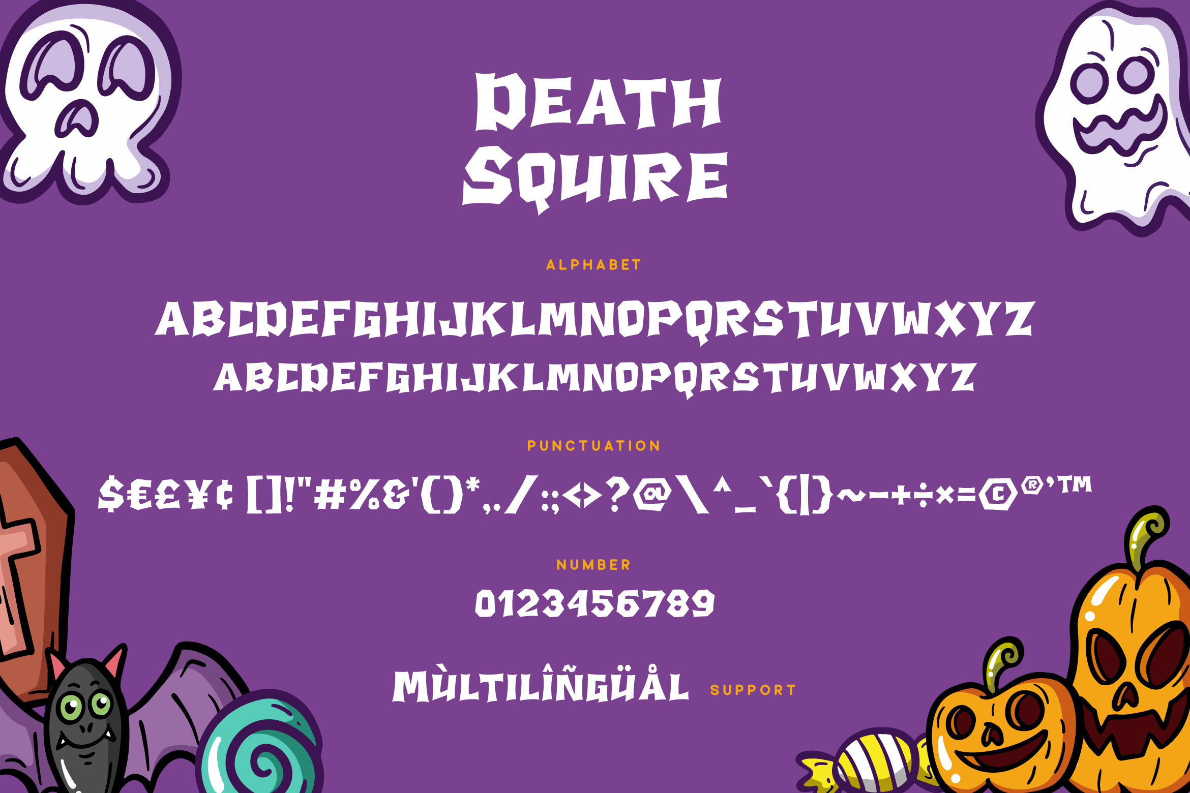 Death Squire - Cute Horror Font example image 6