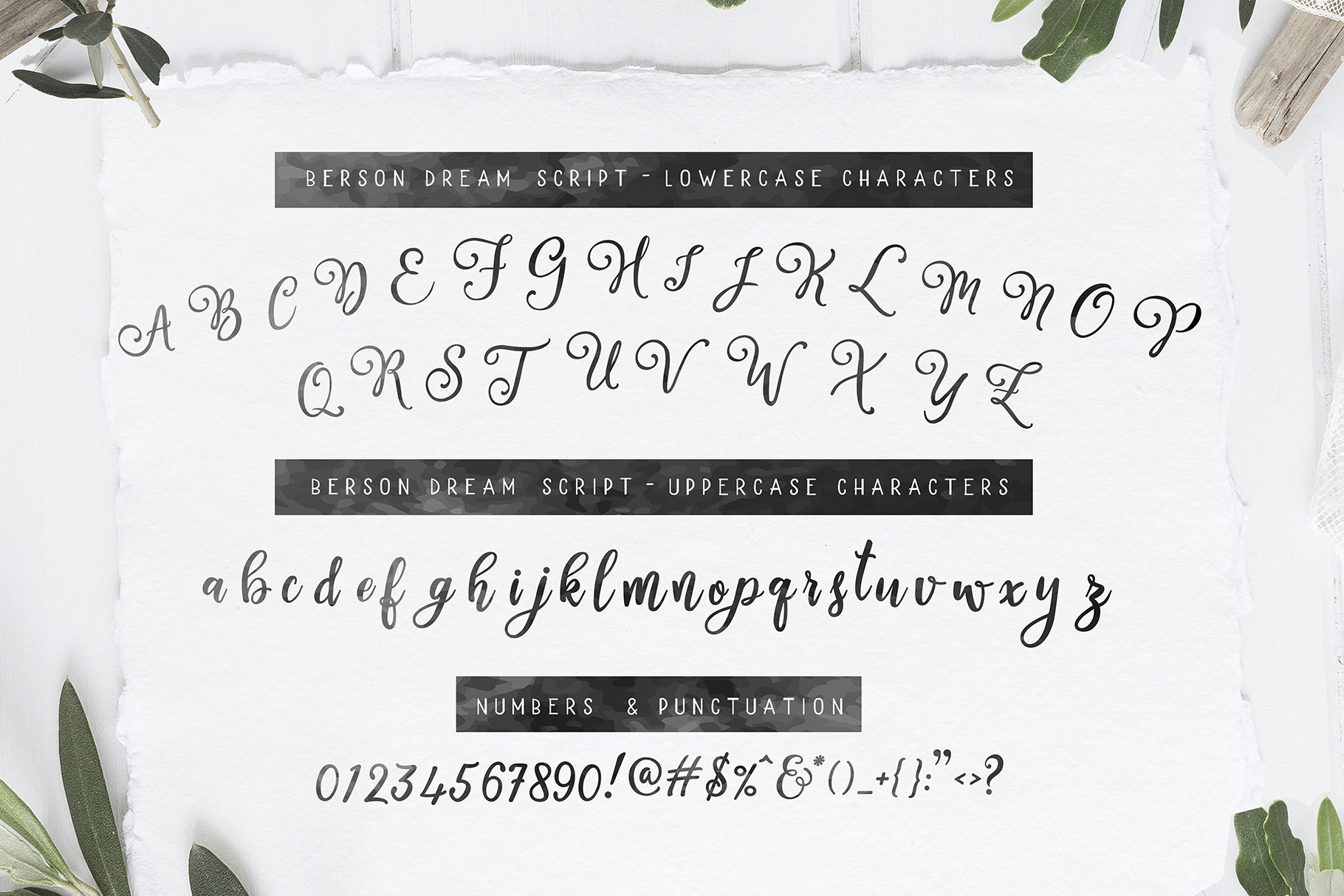 Berson Dream Font TRIO and extras example image 8