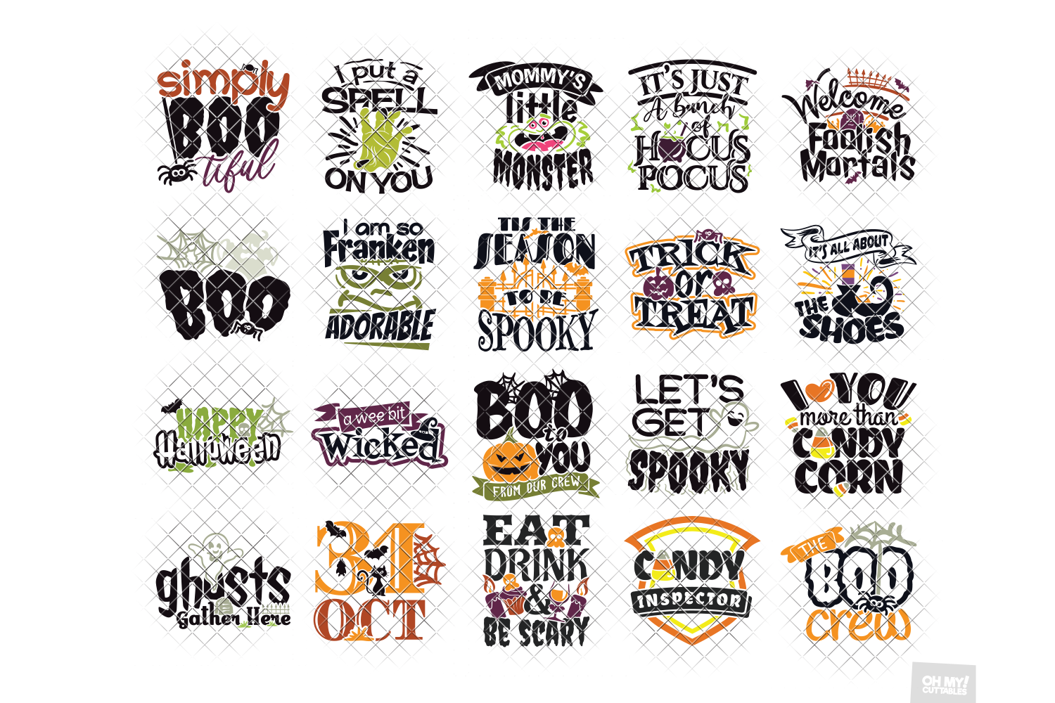 Halloween SVG Quotes & Phrases Bundle in SVG, DXF, PNG, EPS example image 2