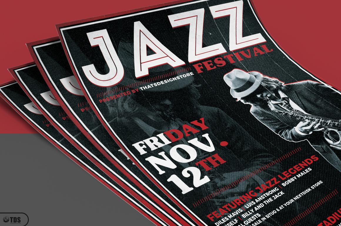 Jazz Festival Flyer Template V3 example image 3