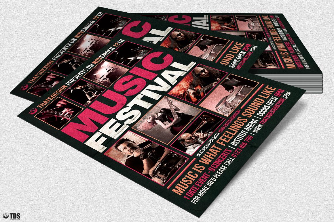 Music Festival Flyer Template V18 example image 3