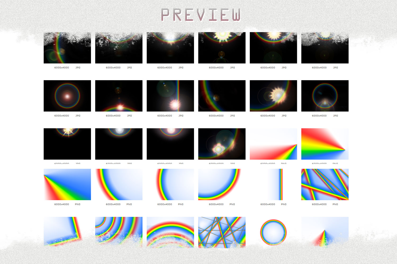 Rainbow overlays & textures, rainbow action, rainbow preset example image 6