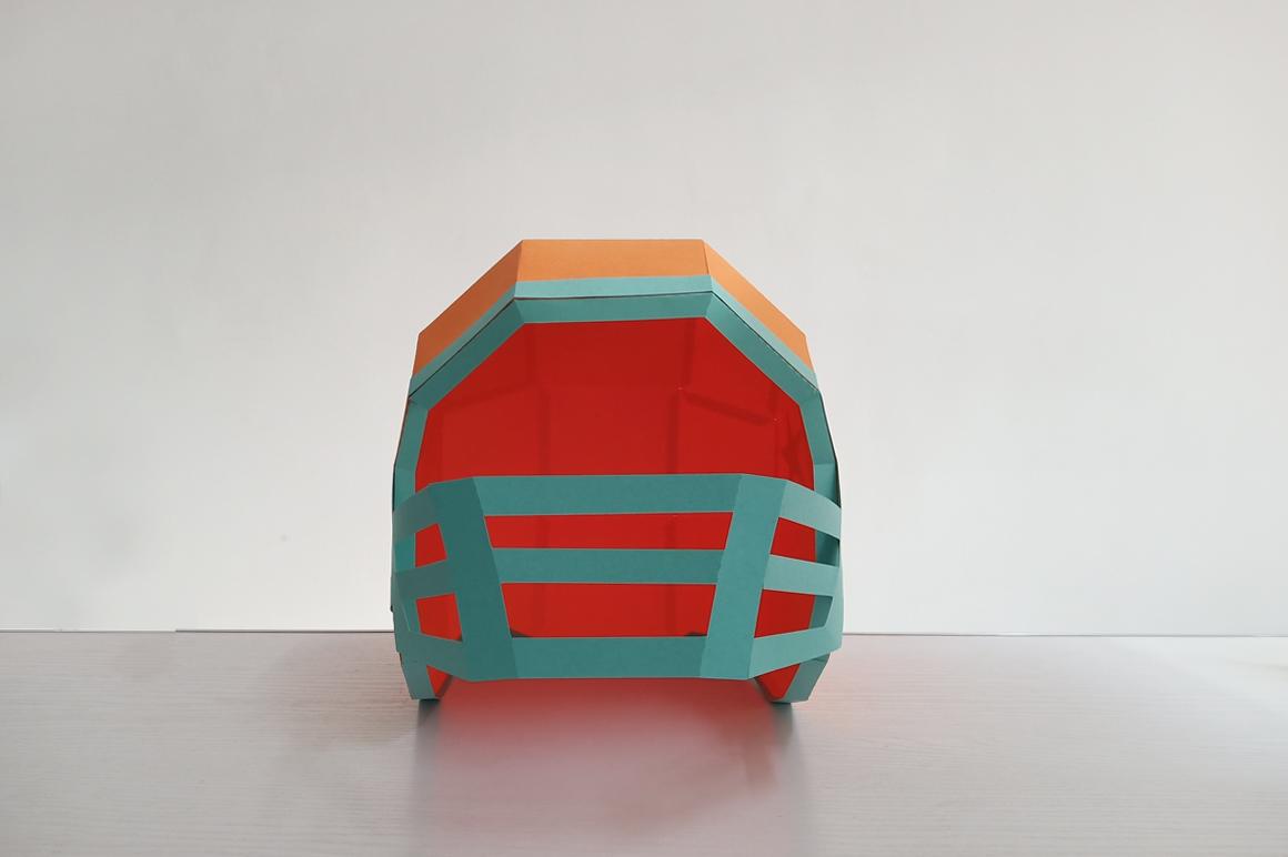 DIY Football Helmet - 3d papercraft example image 7