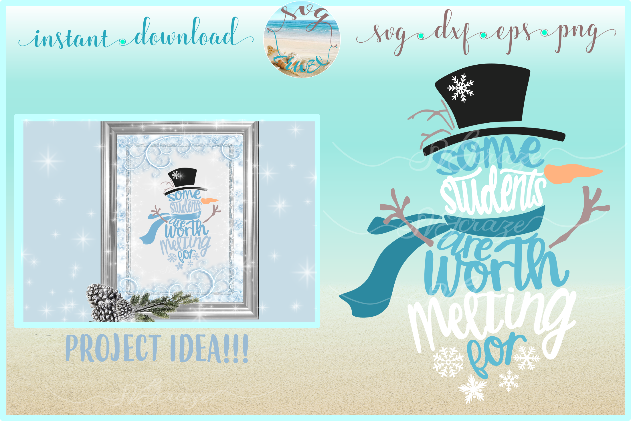 Some Students Are Worth Melting For Snowman Svg Dxf Eps Png 144502 Svgs Design Bundles