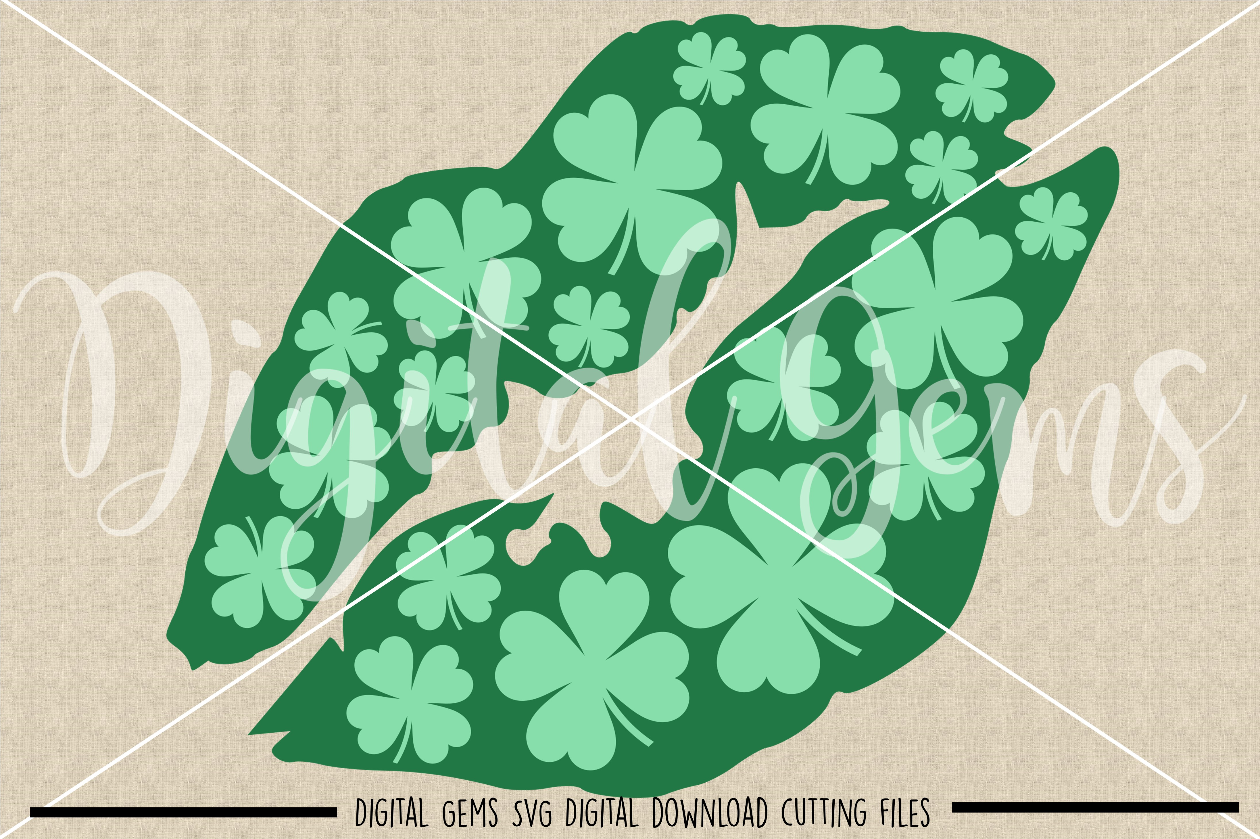 St Patrick's Day lip SVG / PNG / EPS / DXF Files example image 2