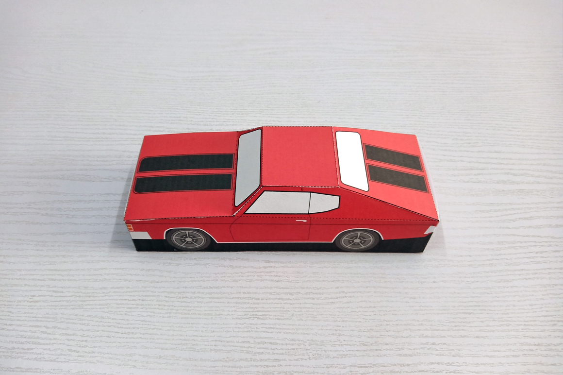 DIY Chevelle Car favor - 3d papercraft example image 6