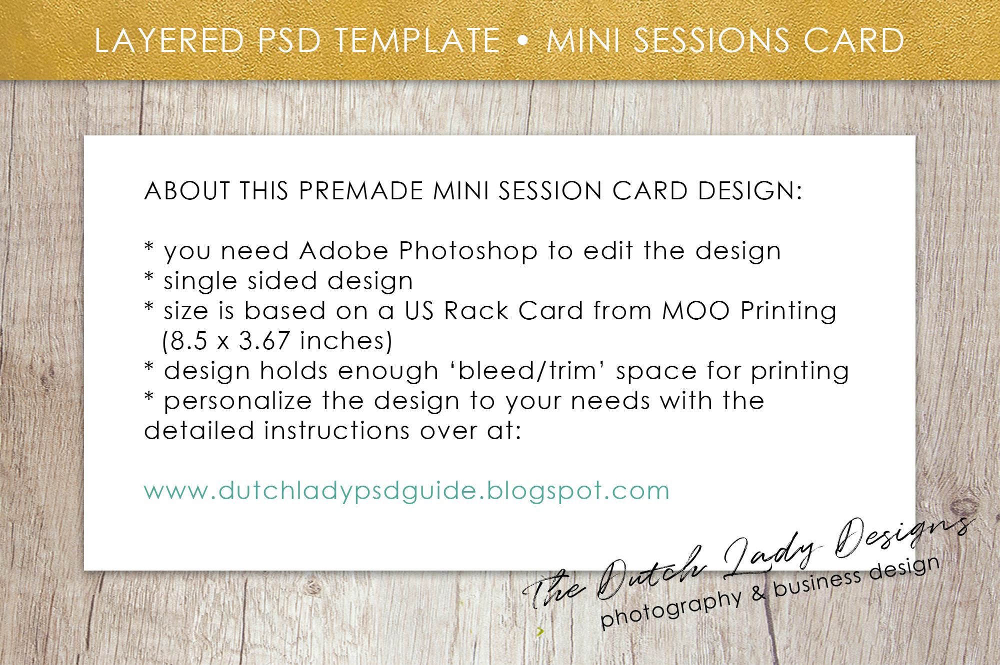PSD Photo Mini Session Card Template - Design #24 example image 5
