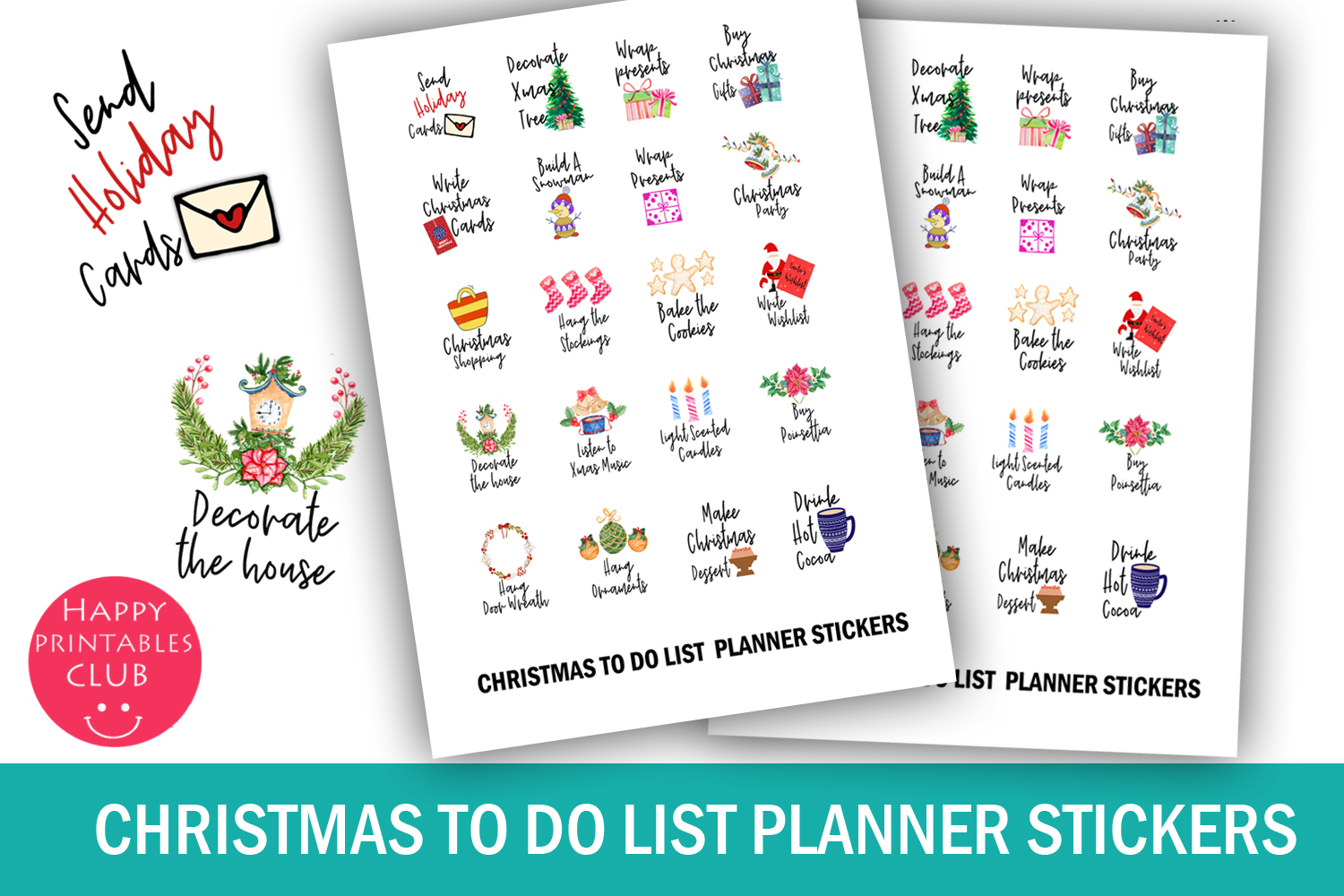 Christmas Planner Stickers Bundle- Holiday Stickers Bundle example image 10