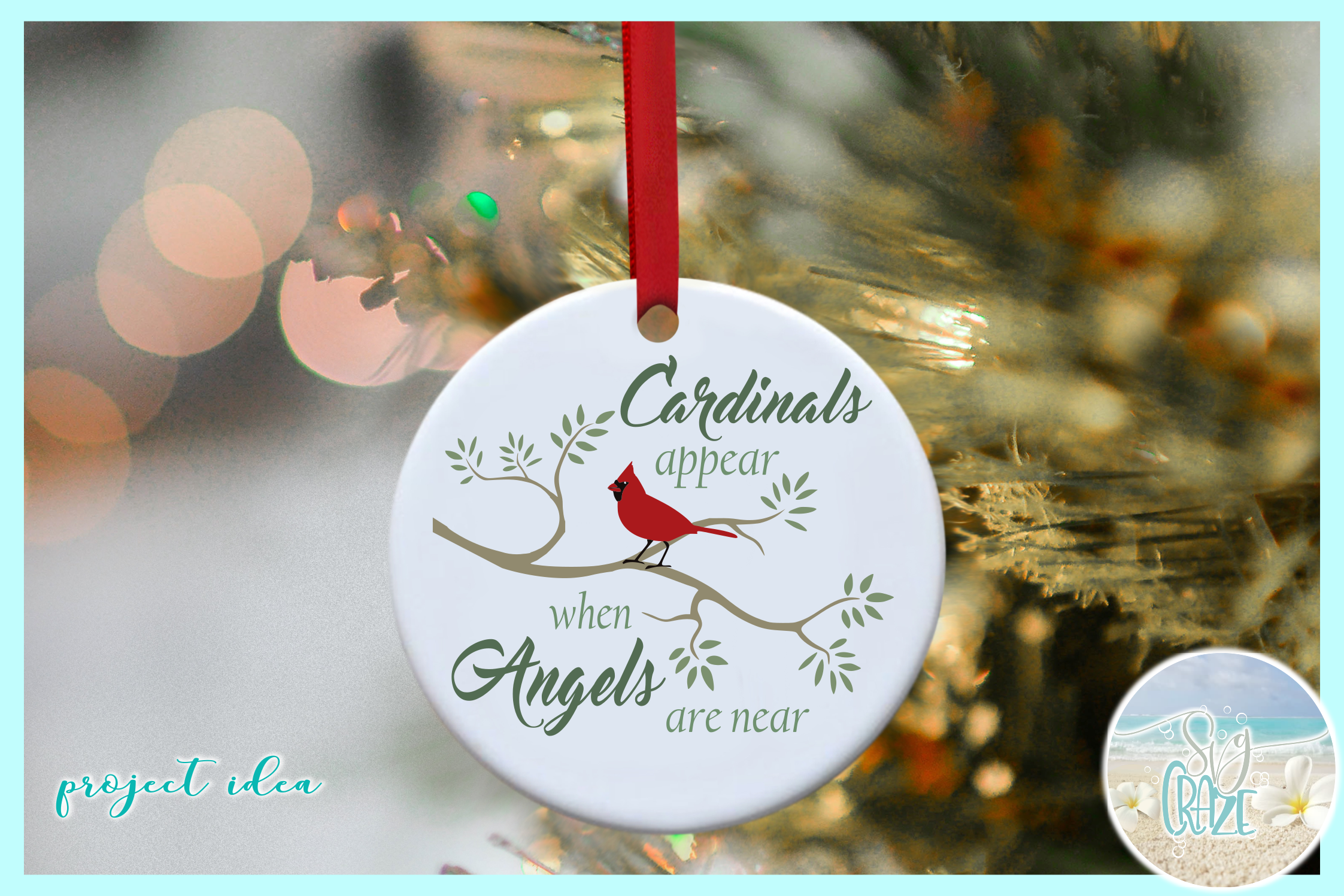 Cardinals Appear When Angels Are Near Quote SVG EPS PNG PDF example image 3