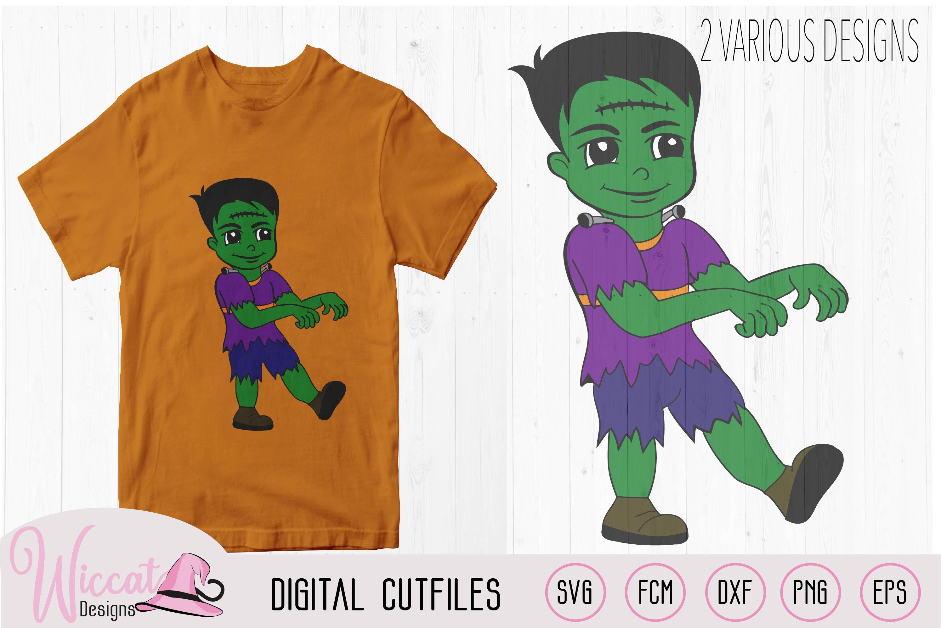 Frankenstein boy, boys Halloween svg, cartoon T shirt svg, example image 2