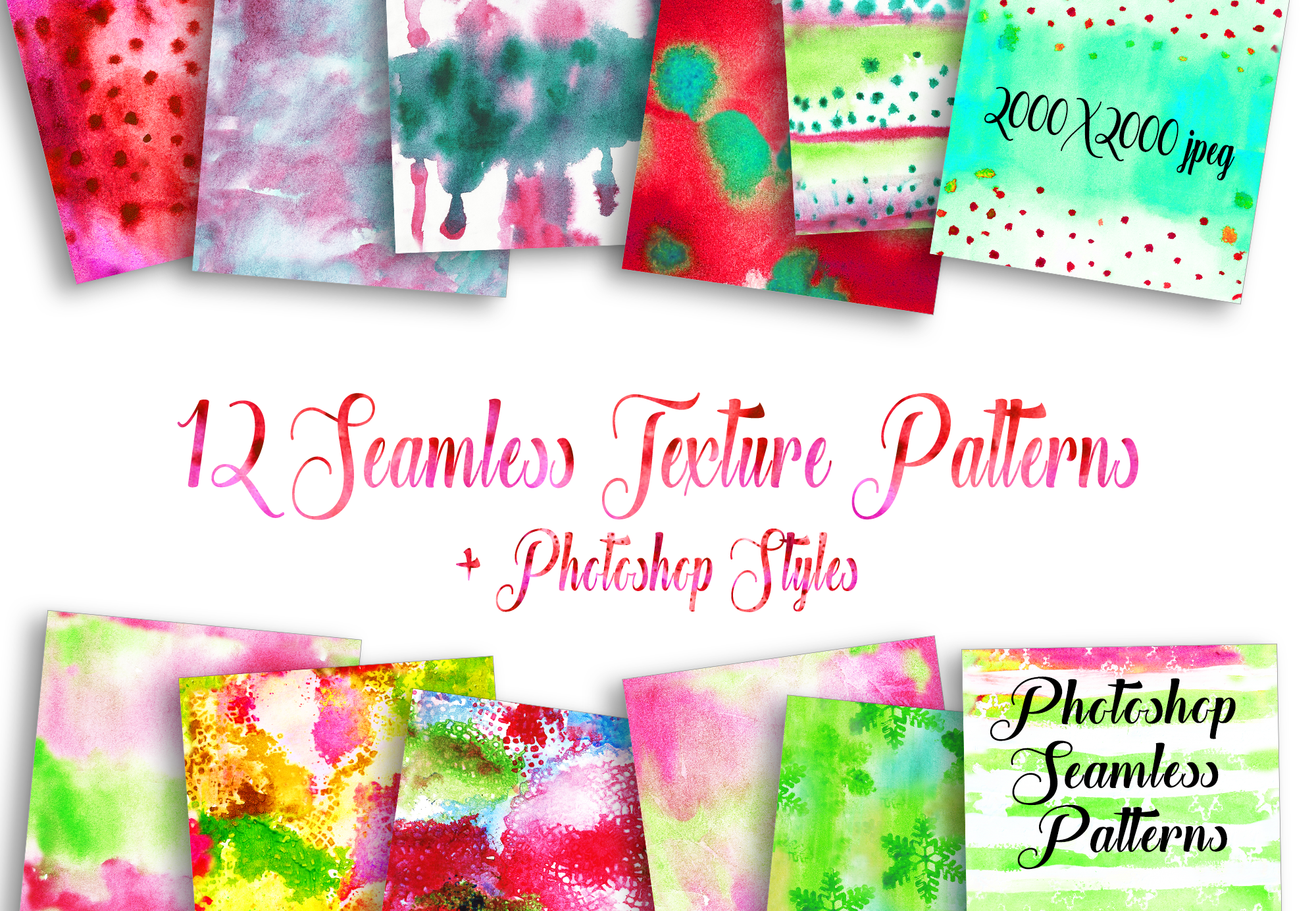Watercolor Textures Kit - Christmas example image 8