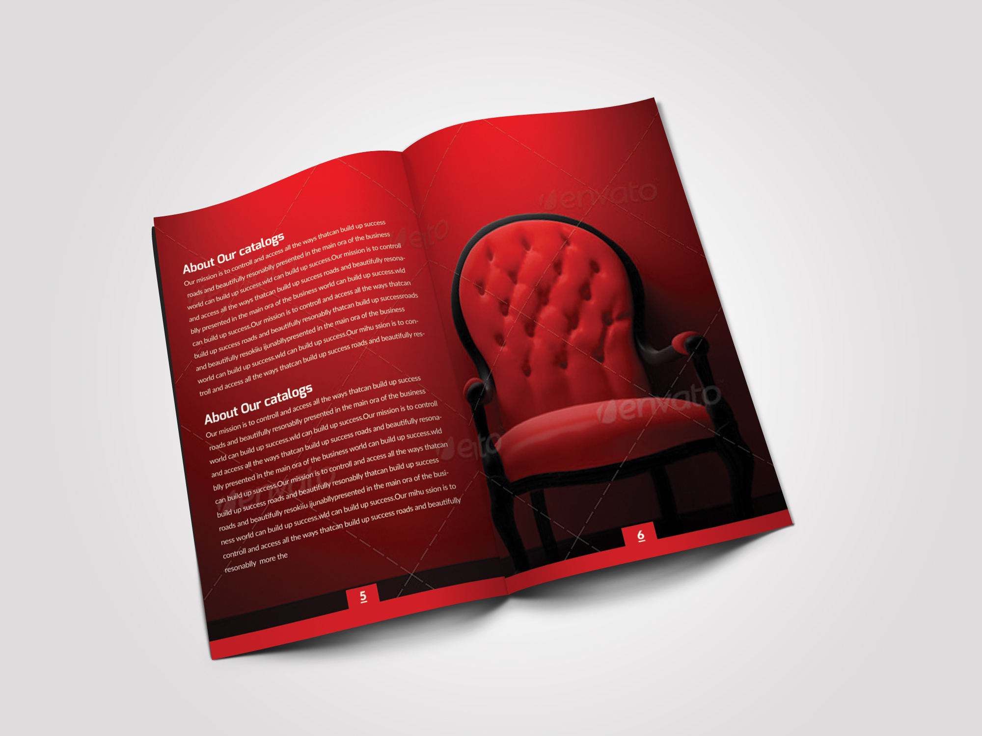 12 Pages Employment Business Bifold Brochure example image 5
