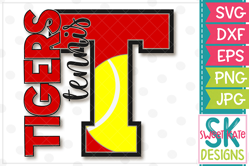 T Tigers Tennis SVG DXF EPS PNG JPG example image 2