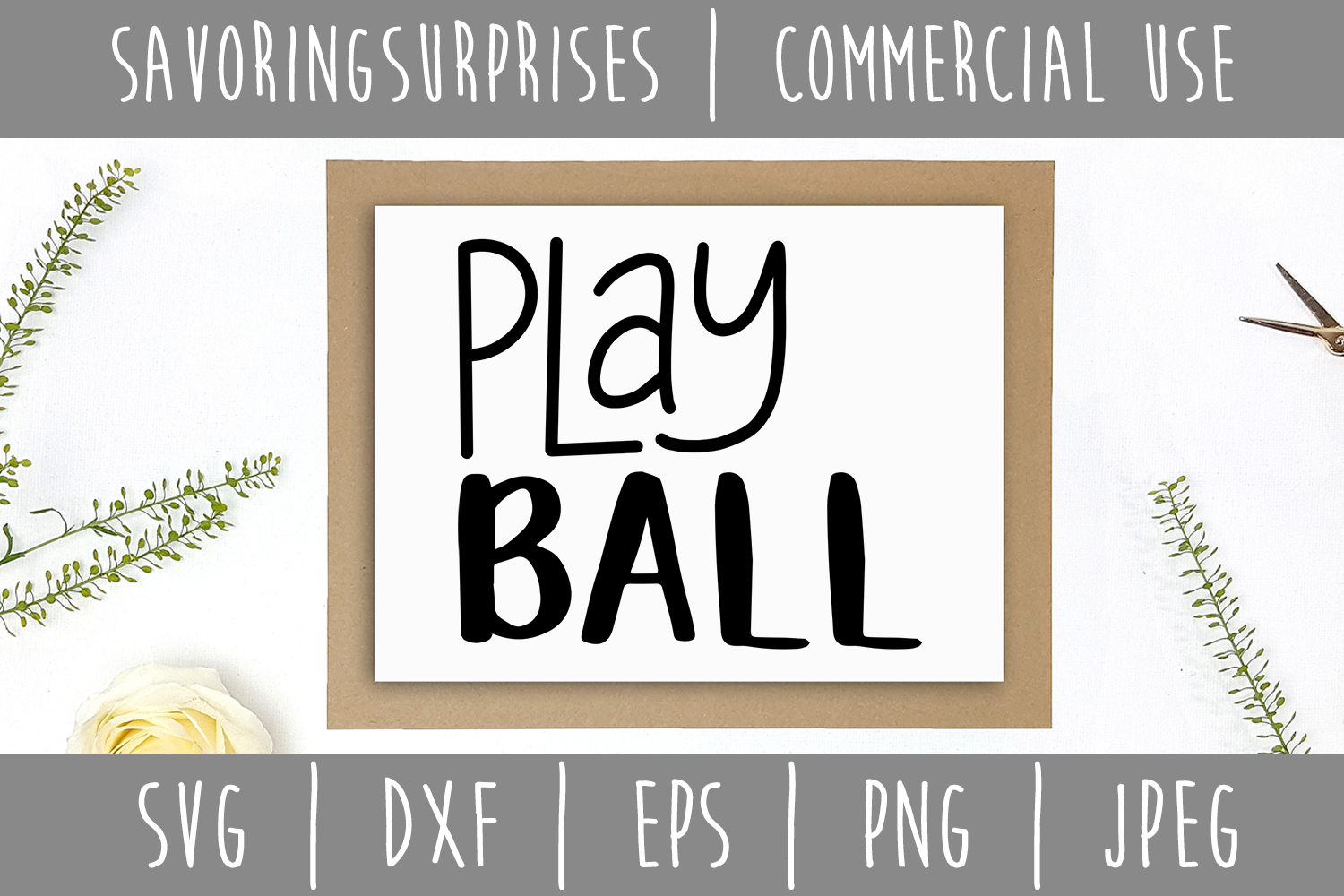 Play Ball SVG, DXF, EPS, PNG, JPEG example image 3