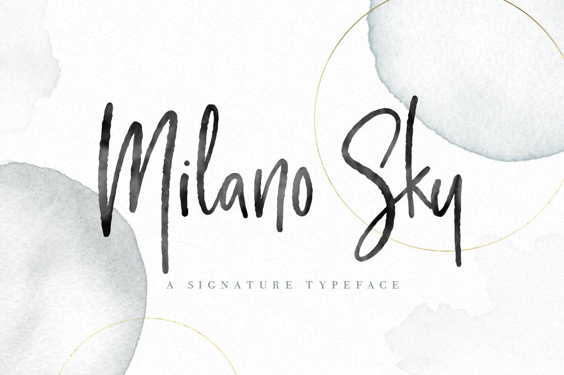 Milano Sky Signature Script Font example image 1
