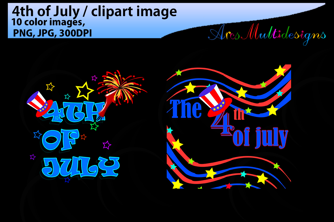 4th of july / 4th of july clipart / fourth of july clipart silhouette / happy 4th of july /JPG / PNG example image 3