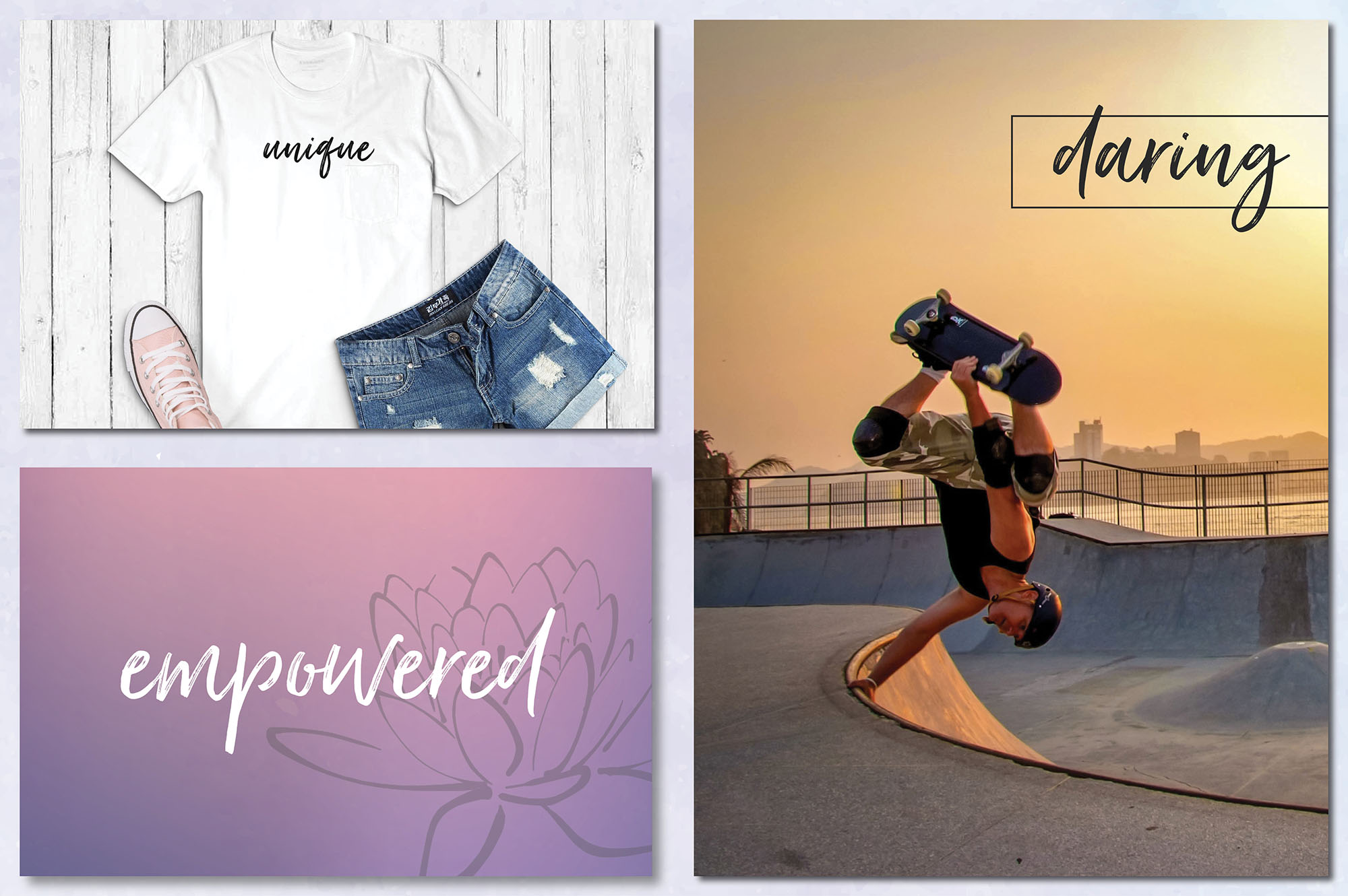 Social Media Overlays Bundle - 712 Black and White Words example image 11