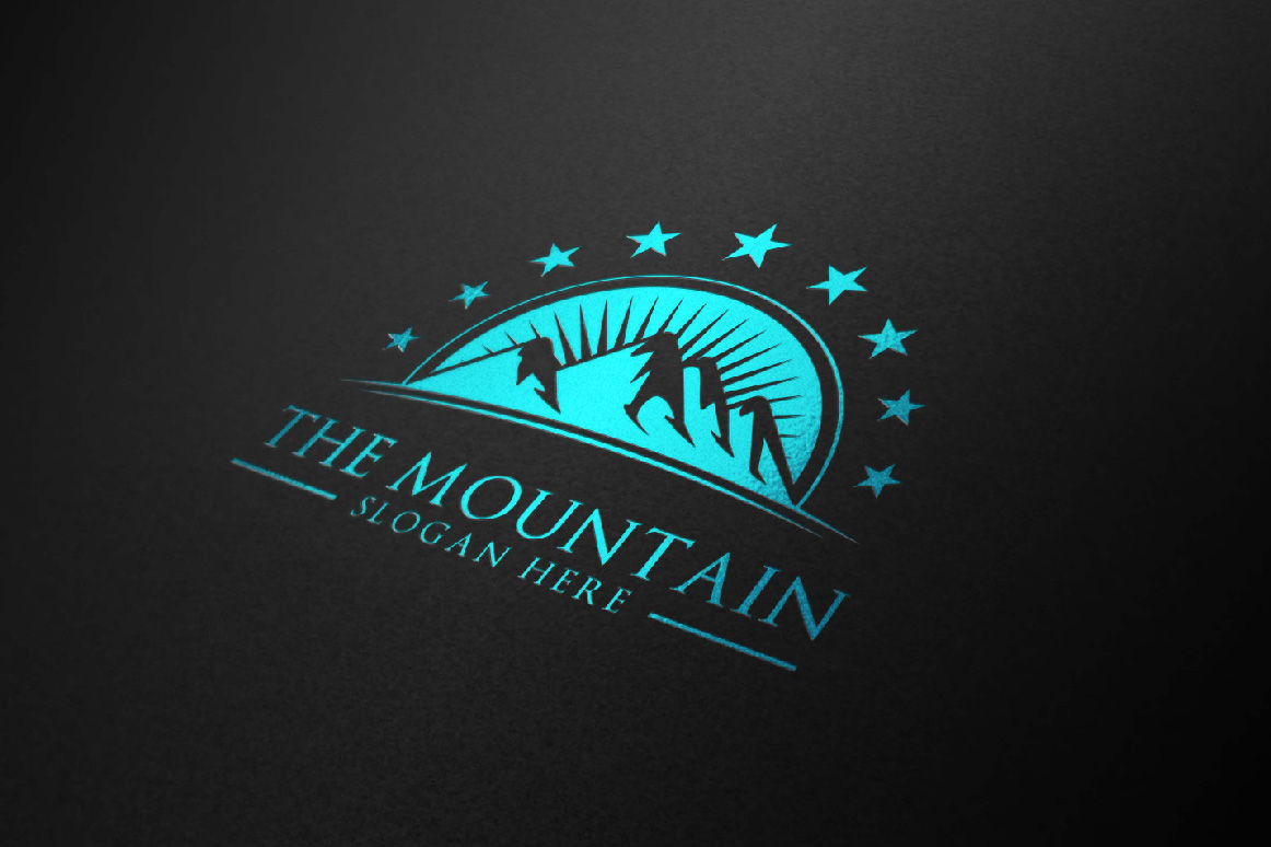 Mountain, summit logo template example image 2