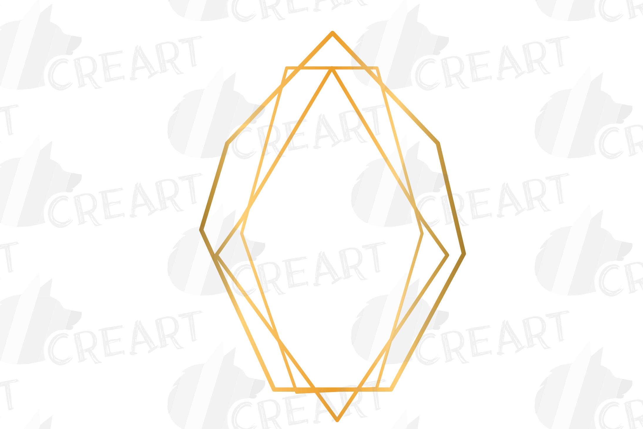 Golden geometric frames clip art. Wedding invite geo borders example image 5