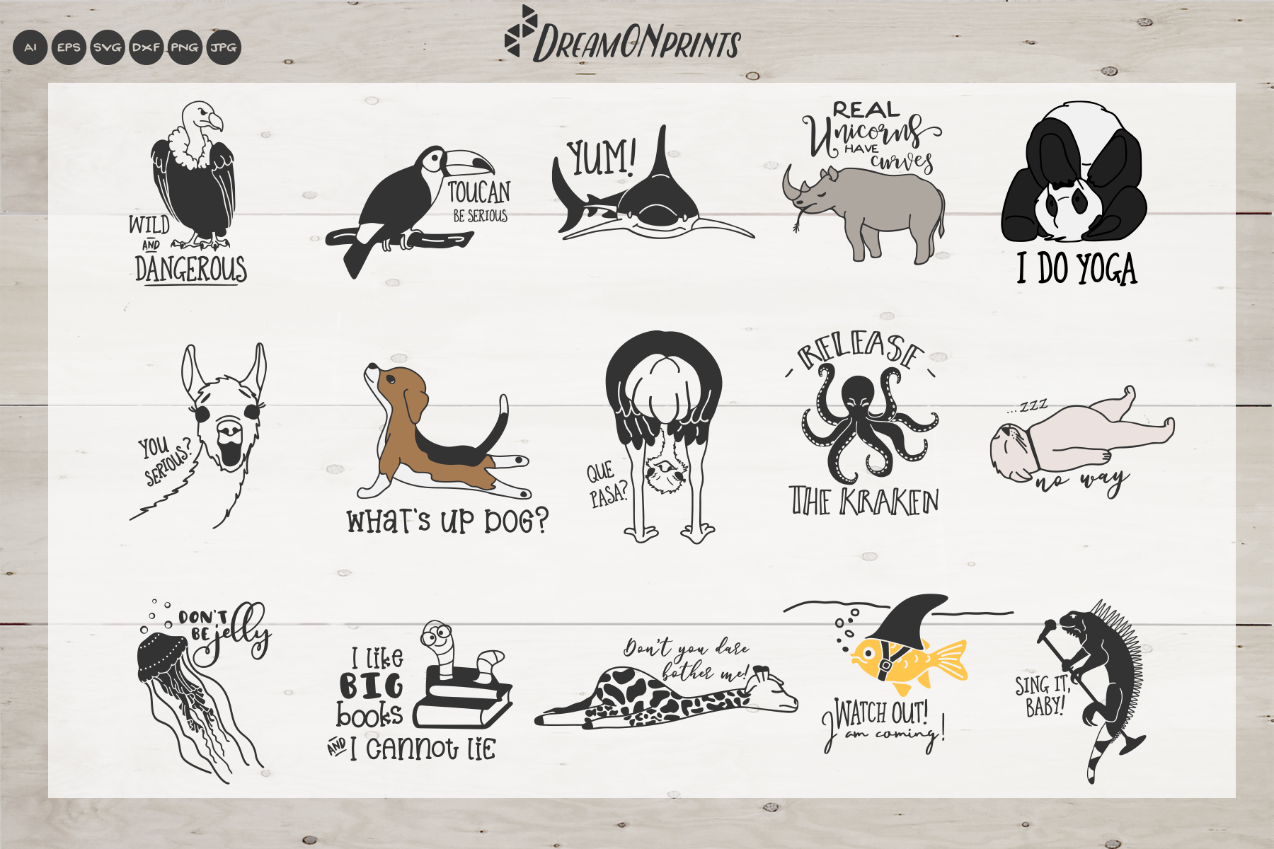 The Quirky Animals Vol. 2 | Funny SVG Bundle example image 2