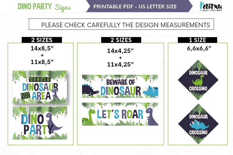 Printable Dinosaur Signs, Dinosaur party, Welcome Signs example image 2