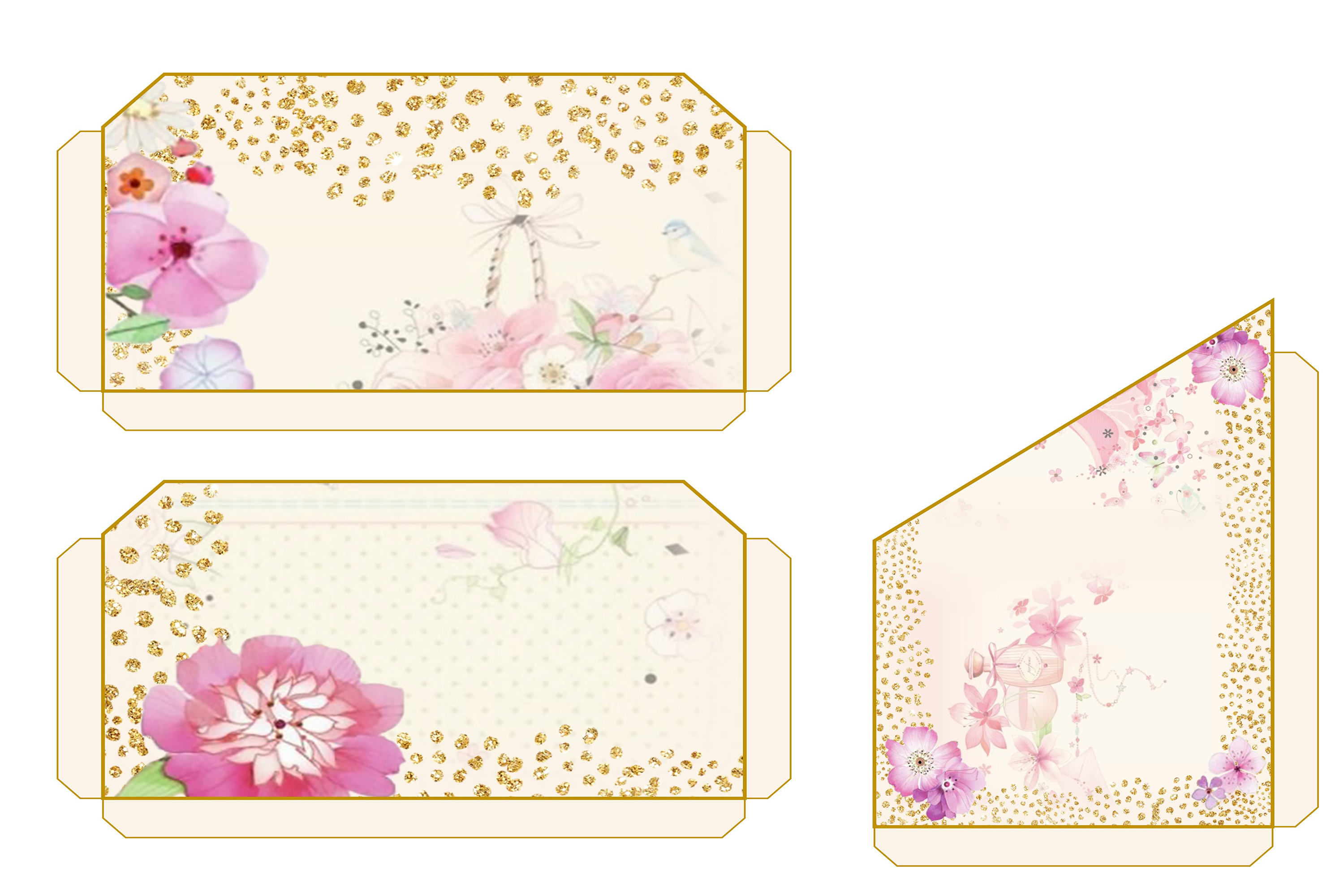 Country Springtime Watercolour Backgrounds, Ephemera &PNG example image 7